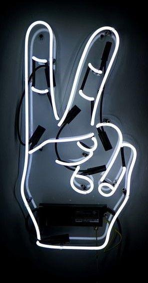 PEACE ~ FINGERS ♡ NEON LIGHT