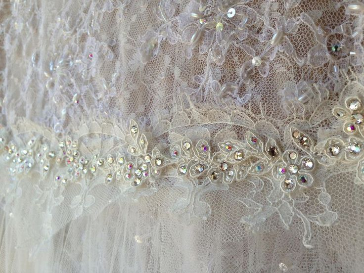 Gorgeous beaded lace with a touch of sparkle.