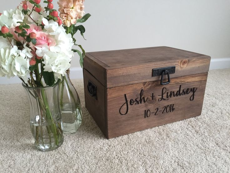 Personalized Engraved Wedding Card Box by GirlyBuilds on Etsy https://www.etsy.com/listing/458764936/personalized-engraved-wedding-card-box