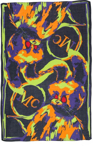Mcq By Alexander Mcqueen Multicolor Angry Bunny Scarf