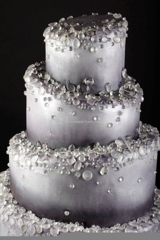 Diamond cake, I would lighten silver to a shimmer
