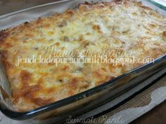 Jom masak: Makaroni Bakar dengan sos putih dan cheese yang lemak berkrim..sedap