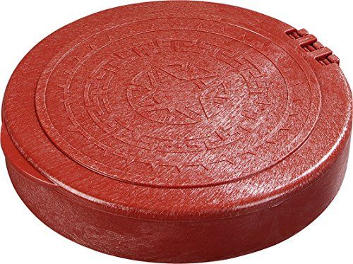 """Carlisle 071029 Insulated Hinged Tortilla Server, 7"""" / 1"""", Terra Cotta  Insulated polypropylene construction keeps tortillas warm for tabletop service  Microwave safe for convenient heating  Integrated hinge allows for one handed operation  Stackable for easy storage  Traditional Aztec design"""