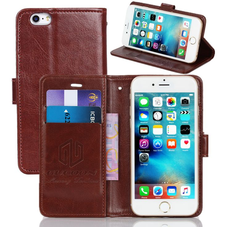GUCOON Vintage Wallet Case for Elephone Vowney 5.5inch PU Leather Retro Flip Cover Magnetic Fashion Cases Kickstand Strap #Affiliate