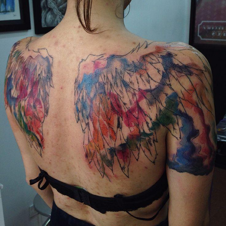 Alas... #watercolortattoo #wingstattoo