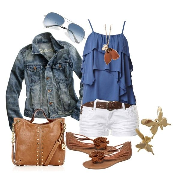 casual: Summer Fashion, Outfit Ideas, Style, Dream Closet, Clothes, Spring Summer, Jean Jackets, Cute Summer Outfits