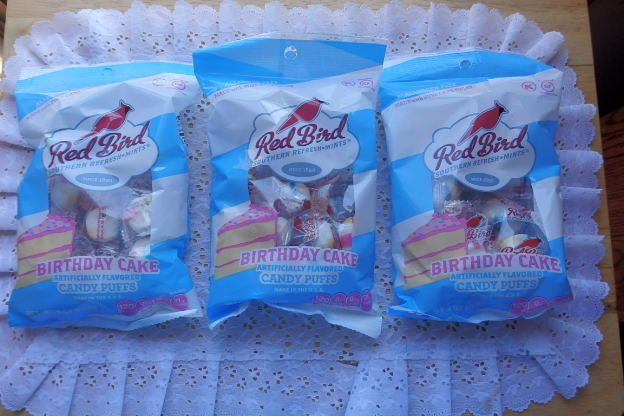 Red Robin mint Candy Birthday Cake Flavor (NEW) Lot of 3 bags 4 oz