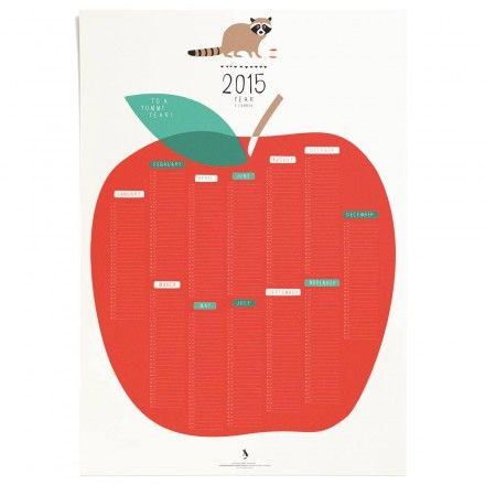 Calendrier 2015 affiche la folle adresse print for Calendrier mural 2015