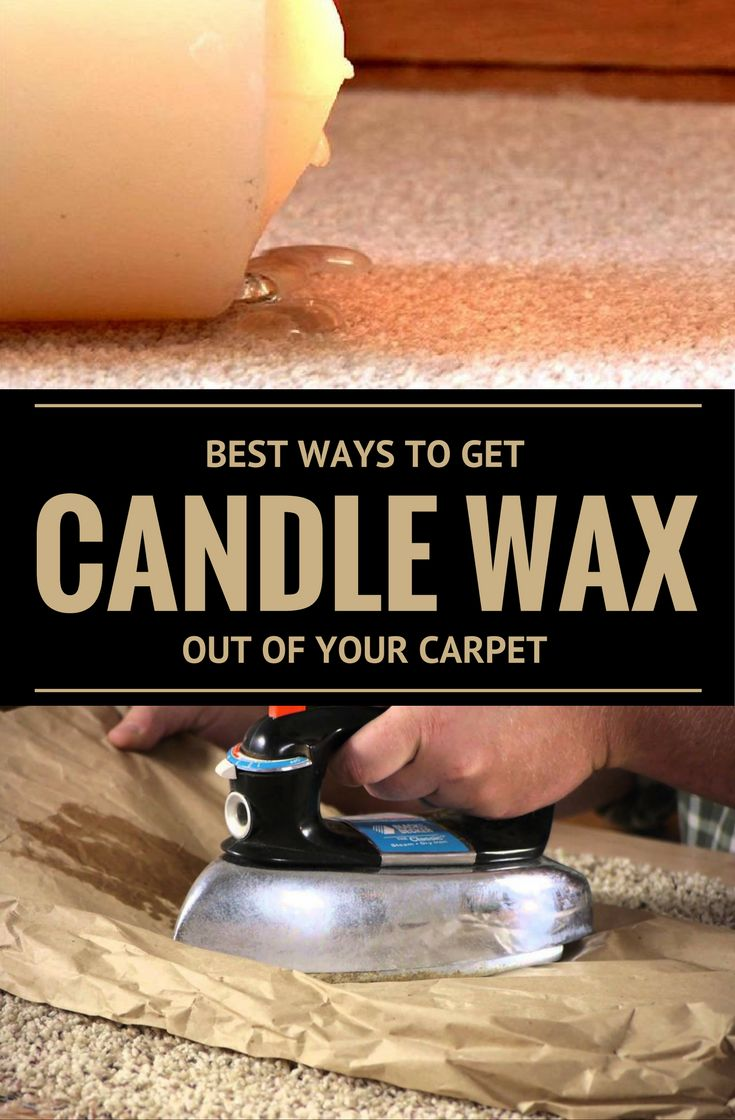 Best ways to get candle wax out of your carpet removing