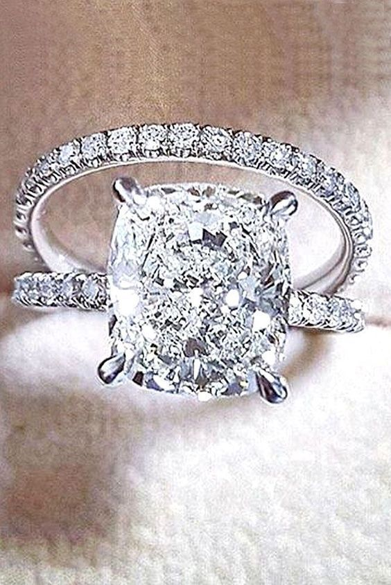 Certified 3 50ct Cushion Diamond Engagement Wedding Ring In Solid