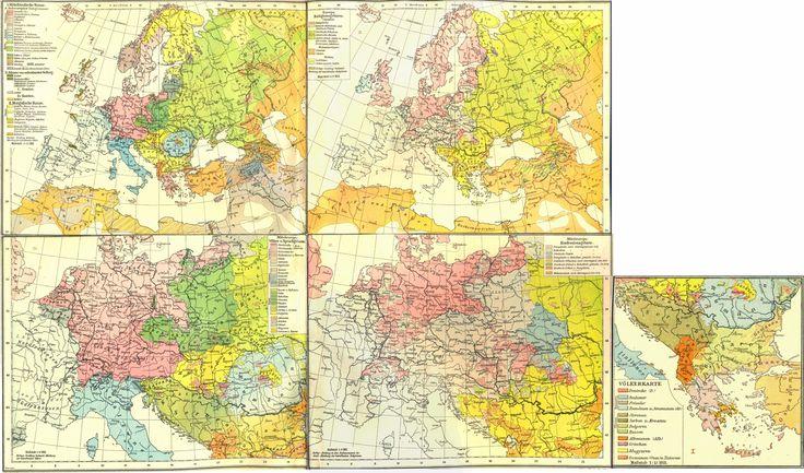 Andrees handatlas 1922 16 Eurooppa kansalaisuudet