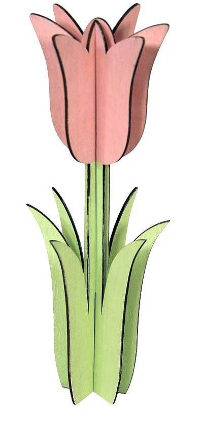 Dřevěný tulipán