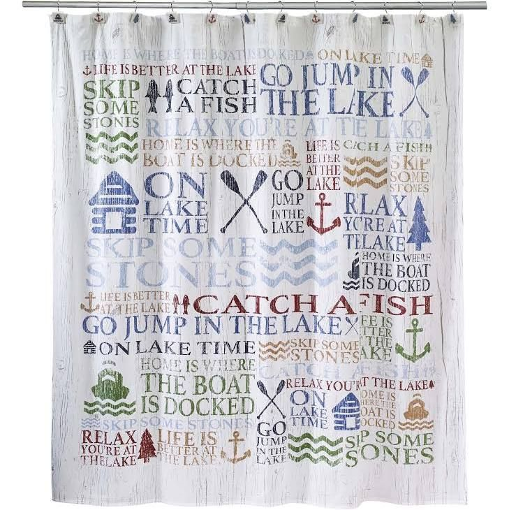 Life Is Better At The Lake Shower Curtain Cool Shower Curtains