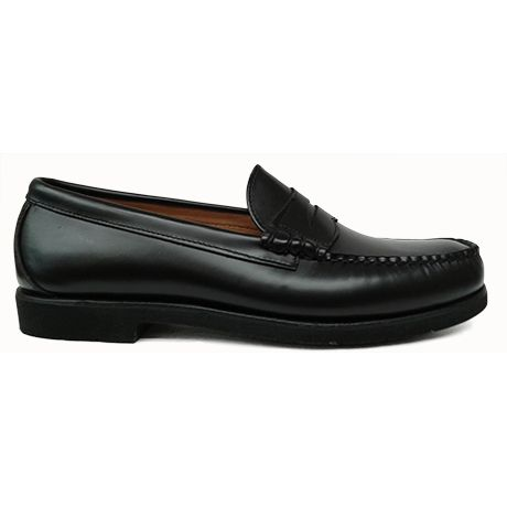 Zapato mocasín beefroll con antifaz en color negro de Sebago vista lateral