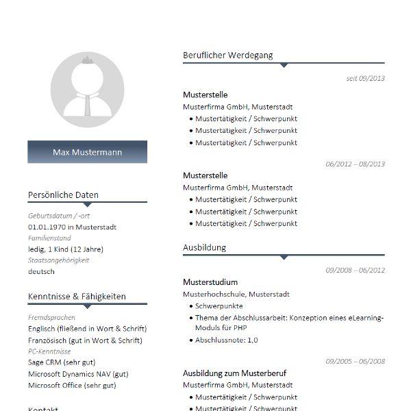 modernes lebenslauf muster mit blauen farbakzenten modern cv resume template