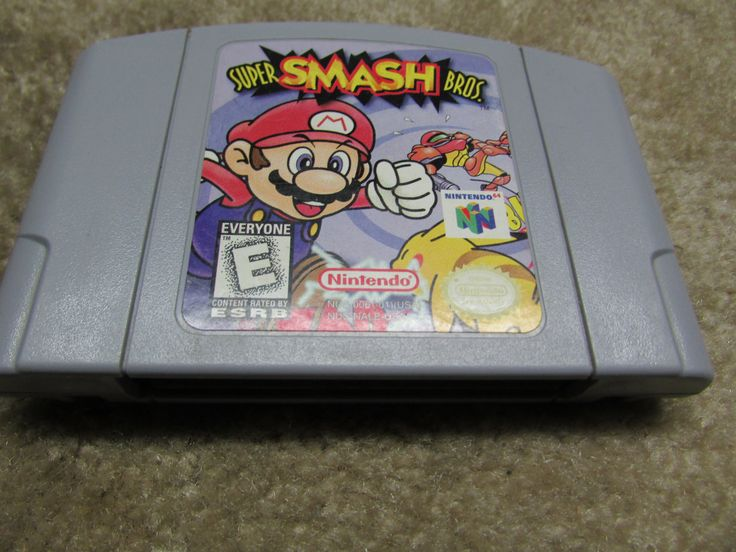 N64 Nintendo 64 Super Smash Bros Game Cartridge - Cleaned - Tested - Nice Shape by Cosmokra on Etsy