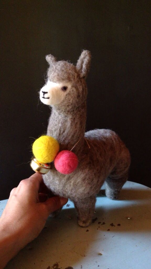 Needle felted alpaca ( fleece from Chiloé) by Coco & Co