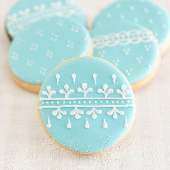 Vintage Lace Wedding Cookie Favors // 1 doz. // Wedding Bridal Shower Vintage Spring // Preservative Free