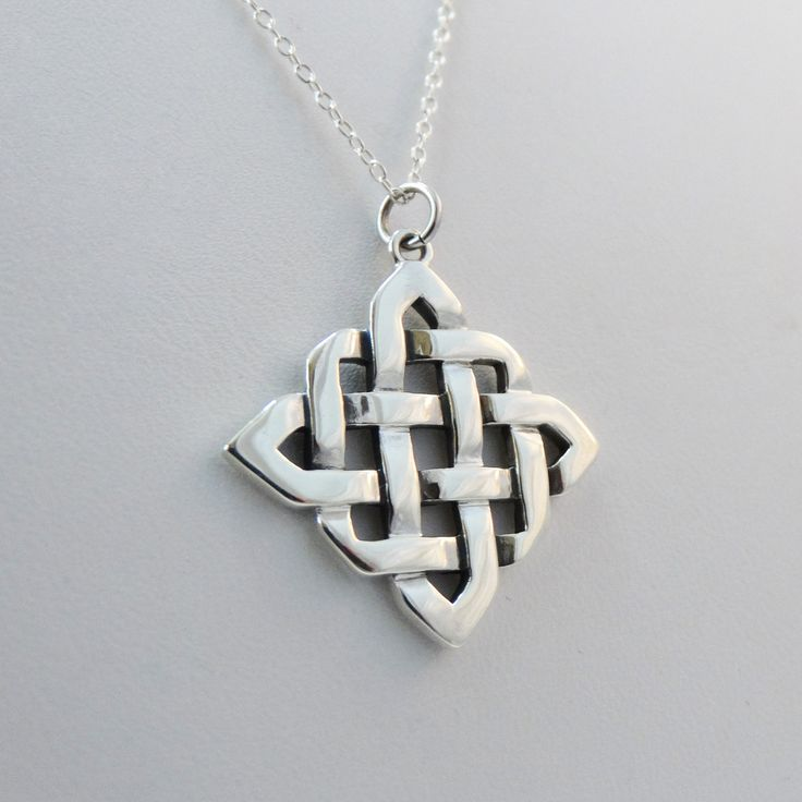 FashionJunkie4Life - Large Sterling Silver Celtic Knot Necklace, $24.00 (http://www.fashionjunkie4life.com/large-sterling-silver-celtic-knot-necklace/)