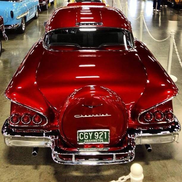 Wiring Ford Old Cars 58 Chevrolet Hot Candy Apple Red 1958 Chevy Impala