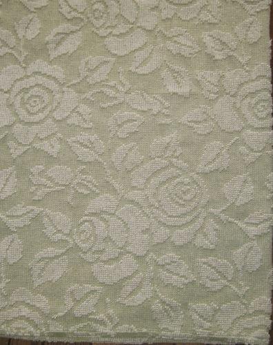Vintage Sage Green White Rose Hobnail Chenille Bedspread Fabric 21 x 25 | eBay