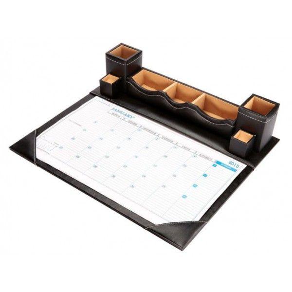 Leather Table Planner for Office Desktop 721. #officeplannerdelhi #desktopplannernoida