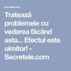 Tratează problemele cu vederea făcând asta... Efectul este uimitor! - Secretele.com