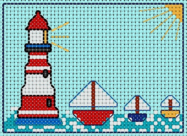 lighthouse free cross stitch