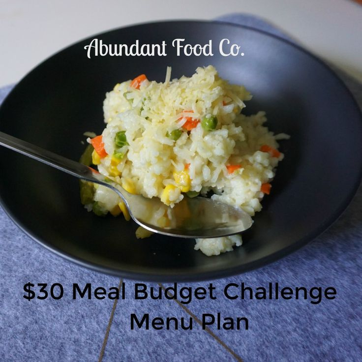How to save money on your grocery shopping. The $30 meal budget is a week of tasty meals created to cost below $30 Aust per person per week.