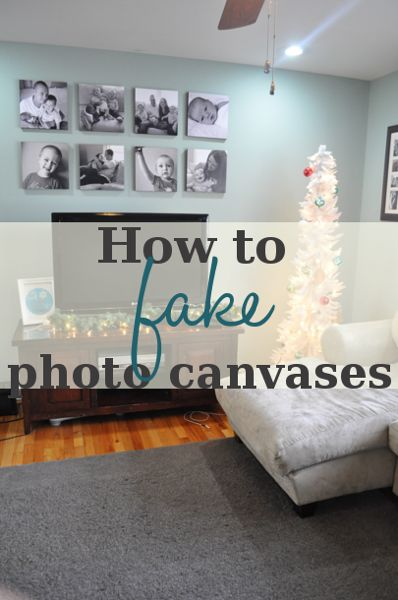 How to fake photo canvases. DIY. craft.