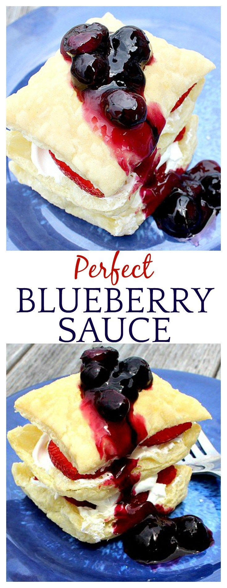 This blueberry sauce recipe would be so good on pie, pancakes, waffles, oatmeal, yogurt...I could go on and on! And it's so easy to make!