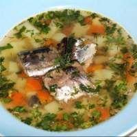 Суп из рыбных консервов горбуши – рецепт