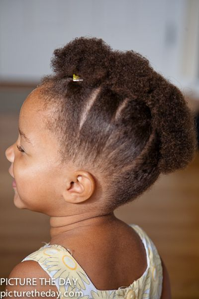 black baby girl faux hawk - Google Search