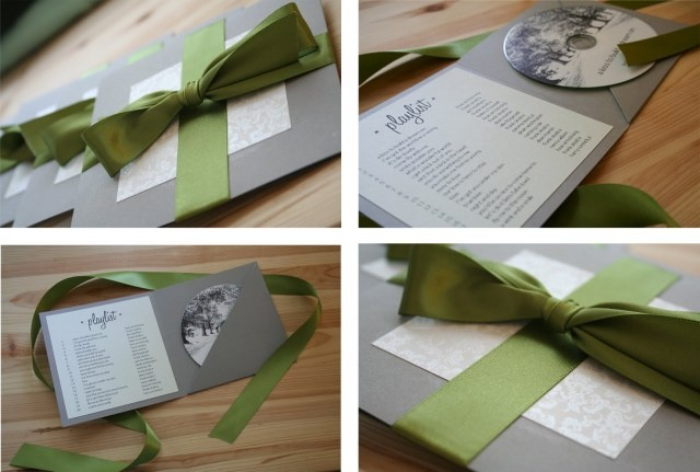 DIY wedding CD favors, the soundtrack of your relationship
