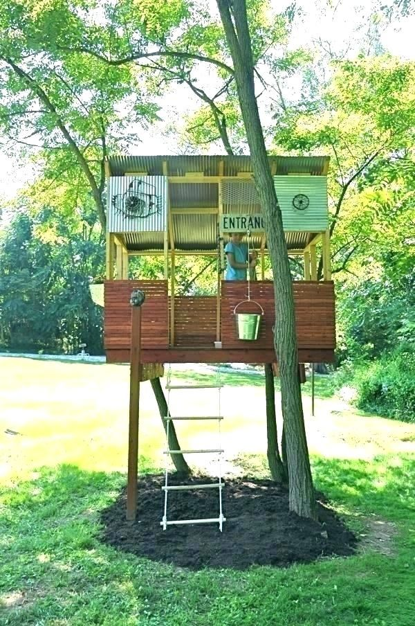 Treehouse Kits Kids Building Tree Fort Hexagon Kit Free Standing House Plans Simple Tree House Kids Tree House Designs Tree House Plans