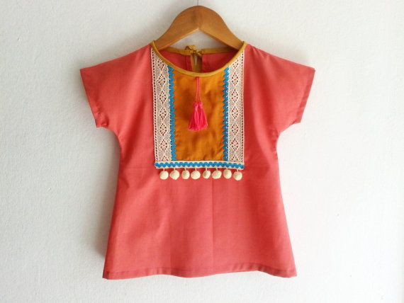 Baby Tunic/Coral Dress/Children's Clothing/ Baby by VivaBohoKids