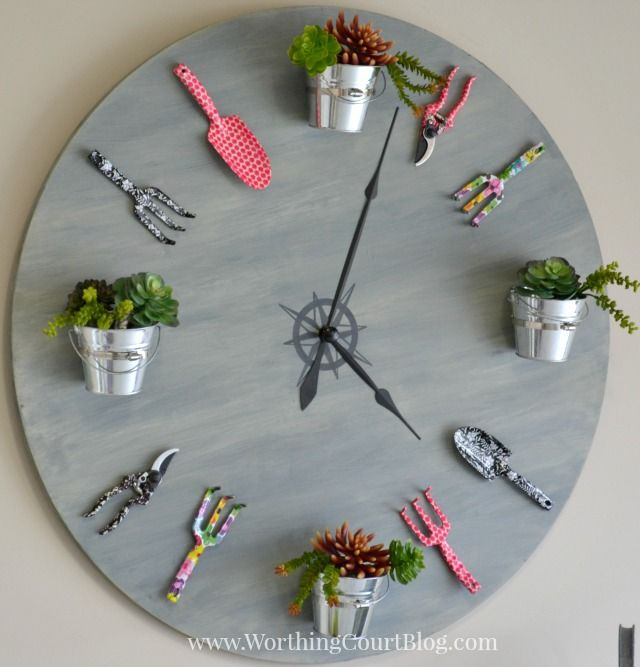 How to make a faux garden clock