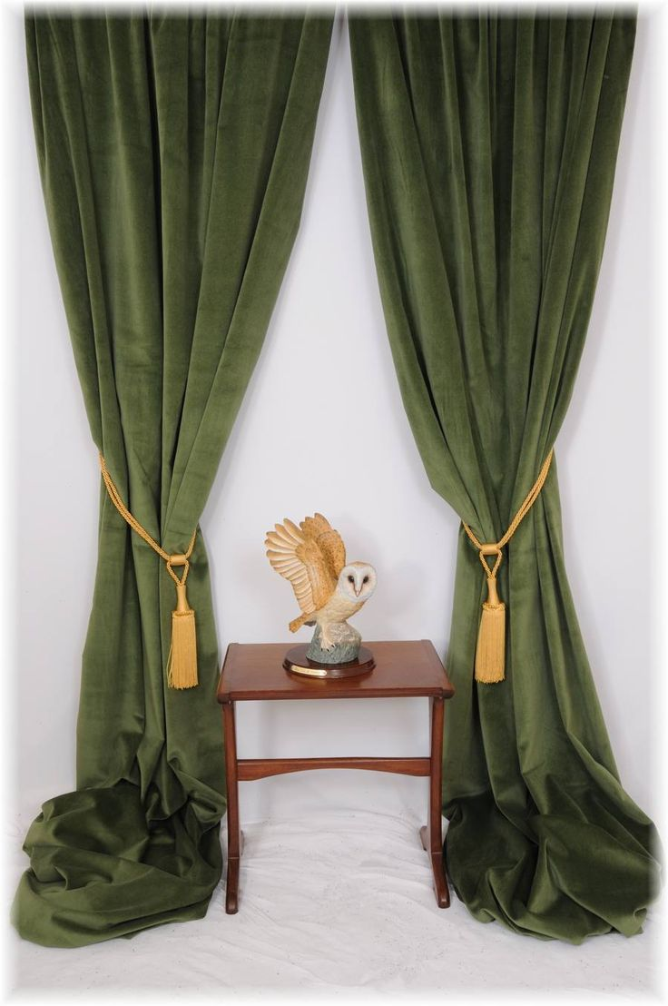 details about superb green velvet curtains bespoke service all sizes mtm