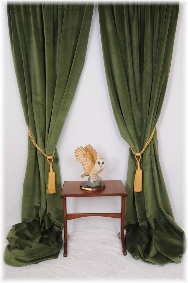 Green velvet curtains?