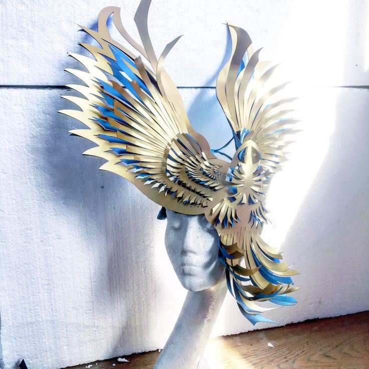 Sculptural mask mask by Georgia Hardinge.  How amazing is this? Totally stunning, and all in the name of protecting and raising awareness for endangered animals.