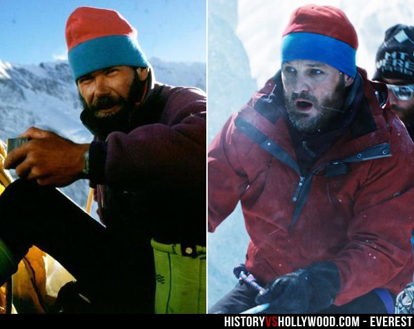 Rob Hall and his onscreen counterpart, Jason Clarke, who portrays Hall in the 2015 Mt. Everest movie. See more pics: http://www.historyvshollywood.com/reelfaces/everest/