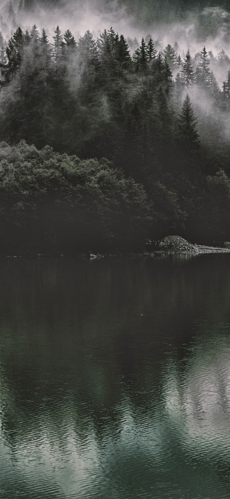 Nu46 Lake Mountain Water Dark Nature Via Iphonexpapers Com Wallpapers For Ipho Click Here T Forest Wallpaper Iphone Nature Wallpaper Dark Wallpaper Iphone