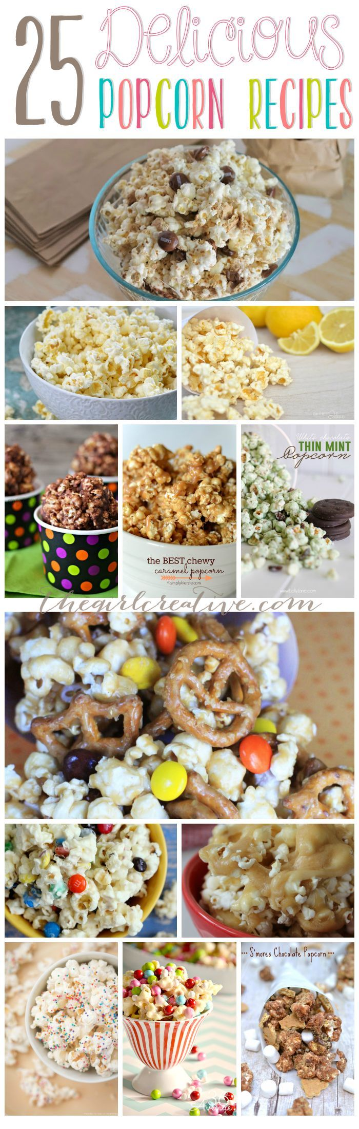 Delicious popcorn recipes | Salty and Sweet popcorn recipes.