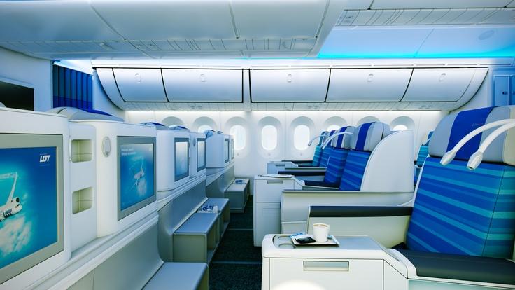 Another view of Elite Club class in our new Dreamliner |  Kolejny widok na klasę Elite Club w naszym nowym Dreamlinerze