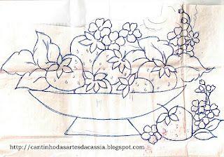 Coisas da Nil - Pintura em tecido: Morangos...