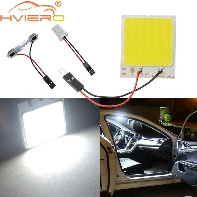 C5w Cob 24 36 48smd Chip White Reading Lamp Led T10 Car Led Parking Bulb Auto Interior Panel Light Festoon License Plate Lights Reading Lamp Car Interior Bulb