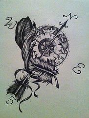 arrow compass tattoo - Google Search