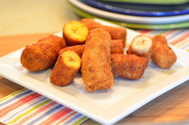 Breaded deep fried bananas are easy to make and can be served warm as a side for feijoada (Brazilian black bean and pork stew) or accompanied by your fave ice cream.