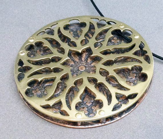 Cathedral Window Medieval Gothic Tracery Pendant in by Gracebourne