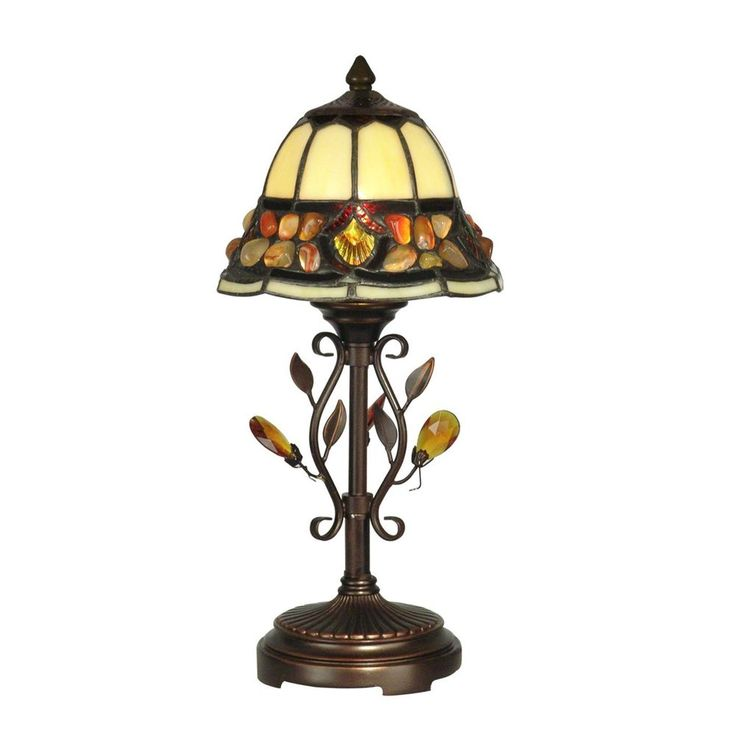 Dale Tiffany In. Pebble Stone Antique Golden Sand Accent   The Home Depot